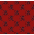 Red Skull Pattern vector image vector image