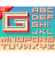 retro alphabet for summer typography design vector image vector image