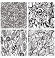 seamless hand drawn patterns vector image vector image