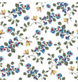 seamless pattern design with little forget me vector image vector image