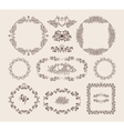 Set of ornamental frames and badges vector image vector image