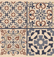 set of ornaments for ceramic tile vector image vector image