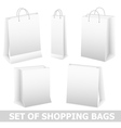 Set of shopping bag vector image