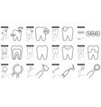 Stomatology line icon set vector image vector image