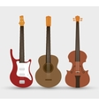 stringed instruments set isolated icon design vector image