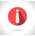 striped tie icon Eps10 vector image