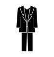 suit icon sign on isolate vector image vector image