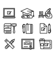 training icon vector image
