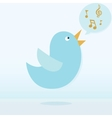Twitter bird singing vector image