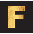 Uppercase letter F of the English alphabet vector image