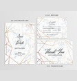 wedding set cards template of geometric design vector image vector image