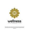 Wellness logo design concept nature leaf logo