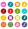 writing icons many colors set vector image vector image