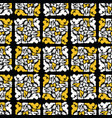 yellow and black stained glass geometric mosaic vector image