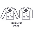 business jacket line icon outline sign linear vector image