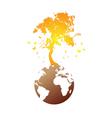 earth tree vector image