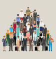 group of people with different occupation vector image