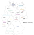 Outline Germany map vector image