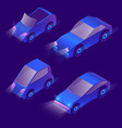 3d isometric urban transportation vector image vector image