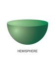 3d shape hemisphere vector image