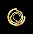 abstract circle tech logo vector image vector image
