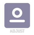 adjust conceptual graphic icon vector image vector image