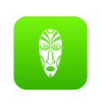 african mask icon green vector image