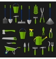 Agriculture and gardening tools flat icons vector image