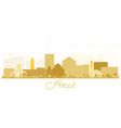 ames iowa skyline golden silhouette vector image vector image