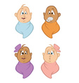 babies bundled vector image vector image