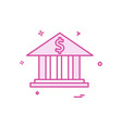 bank money dollar icon design vector image