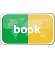 book word on web button icon isolated on vector image vector image