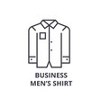 business men shirt line icon outline sign linear vector image