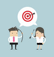 business people same general target of success vector image vector image