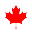 canadian maple leaf icon red maple leaf vector image vector image