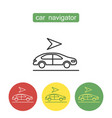 car navigation outline icons set vector image