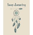 Card with native Indian-American dreamcatcher vector image vector image