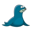 Cartoon sea fur seal character vector image vector image