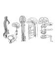 Central nervous system vector image vector image