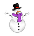 christmas snowman cartoon design for card winter vector image