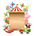 Circus Concept with Poster vector image vector image