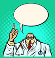 cowardly male doctor medicine and health vector image