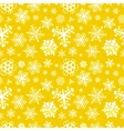 Different modern snowflakes on yellow background vector image