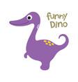 doodle cute dinosaur vector image