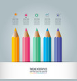 education infographics template 5 step option vector image vector image