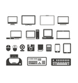 Electronuic equipment icons collection vector | Price: 1 Credit (USD $1)