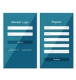 forms login vector image vector image
