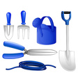 Gardening tools and hose vector image vector image
