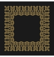 Gold frame in the trendy mono line style on a vector image