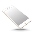 Gold smartphone mockups like iphon vector image vector image